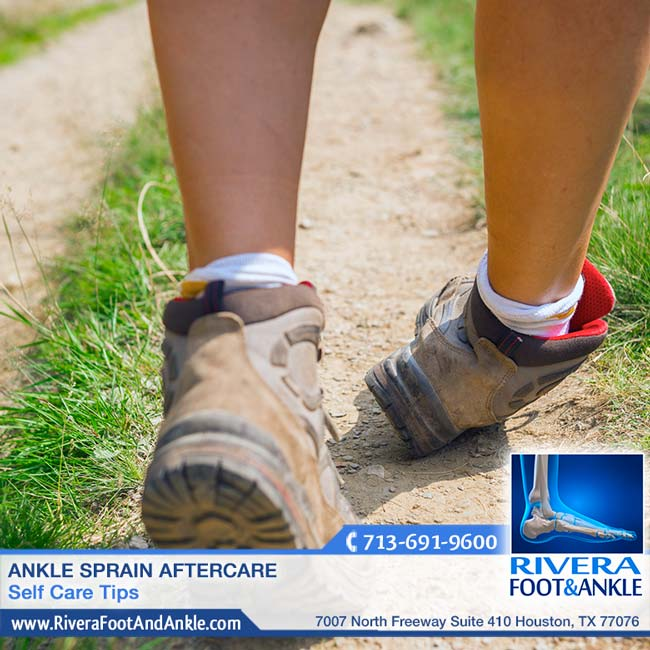 ankle sprain aftercare rivera foot and ankle
